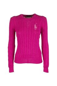 Beaded Pony Cable-Knit Sweater