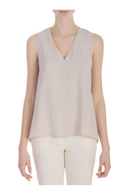 TOP CUPRO EFFECT V-NECK