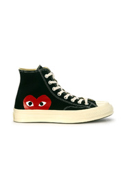 Play x Converse high black canvas sneaker