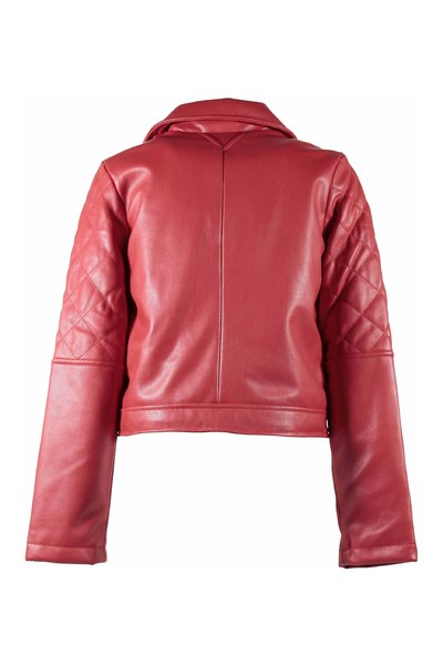 Recommander pas cher Red Faux leather jacket Karl Lagerfeld Veste de transition 0AStY