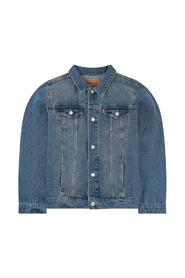 JEANS JACKET WITH METAL POCKETS AND BUTTONS