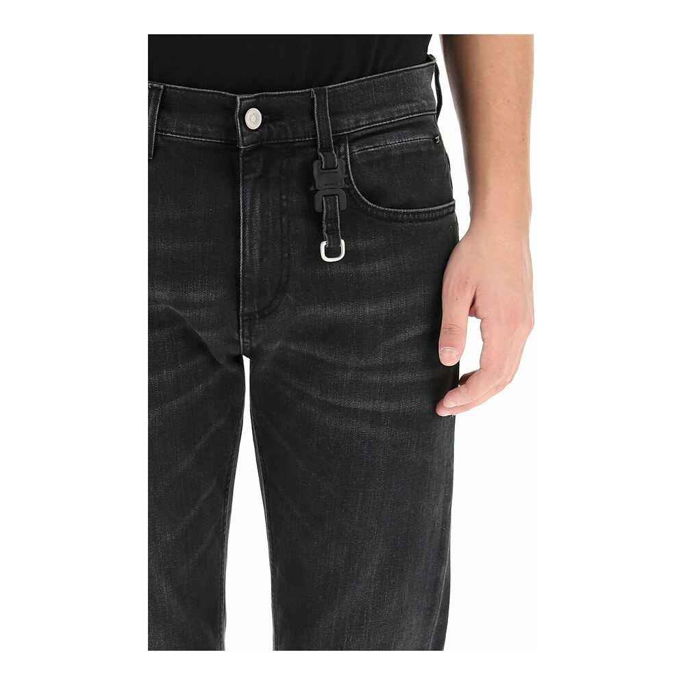 jeans with buckle