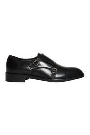 Monk strap shoe in leather