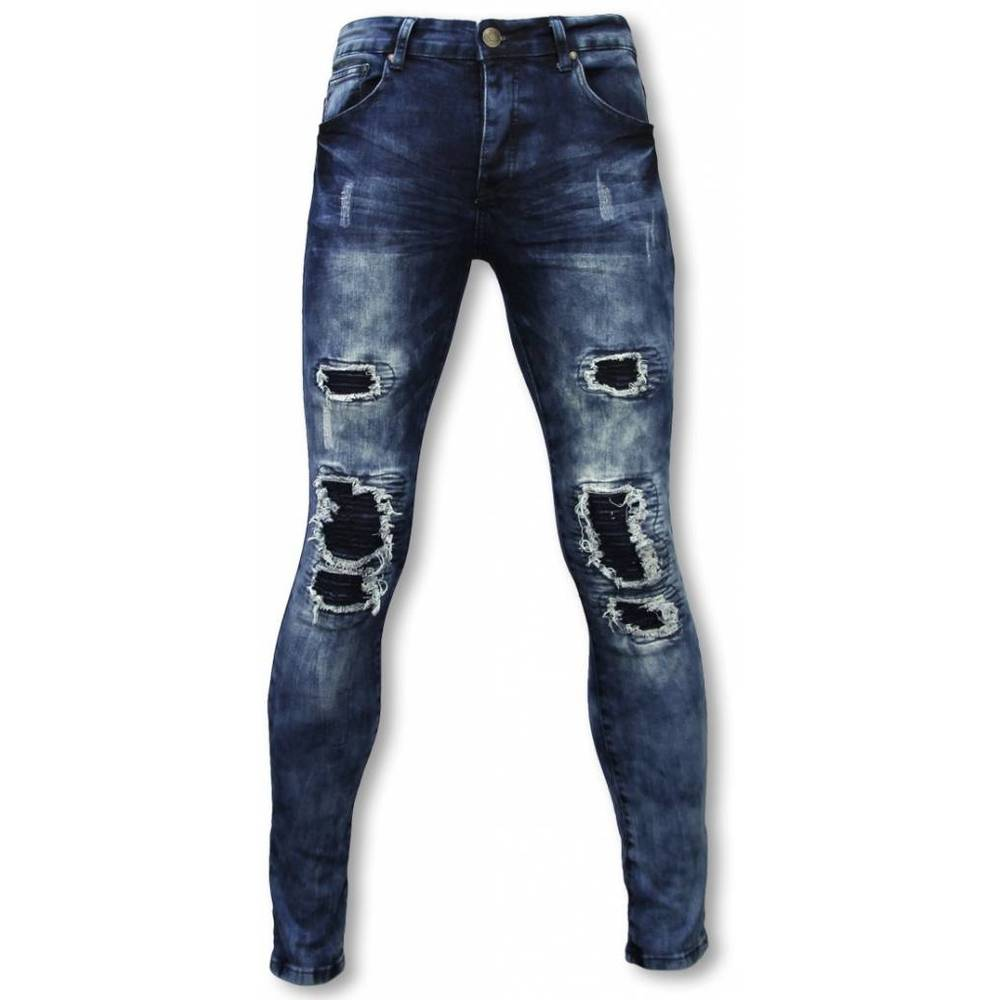 Eksklusive Jeans - Slim Fit Damaged Parts Jeans