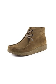 Nature Støvle Emma Suede Moss Green with matching sole