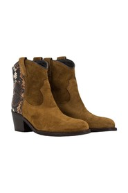 Velor ankle boots