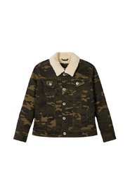 Jacket camo print cotton twill
