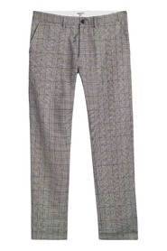 Johnson Pant Glencheck Tabacco Rigid