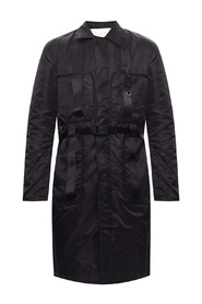 Coat with signature buckle