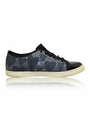 Satin Grey Leopard Sneakers