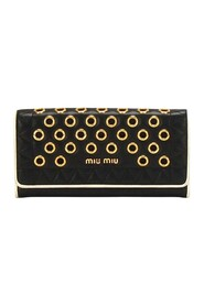 Pre-owned Grommet Long Wallet Leather Calf