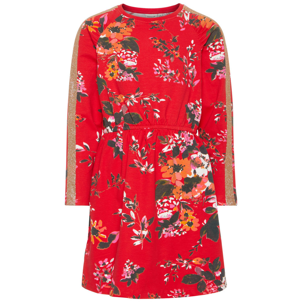 Dress floral printed cotton