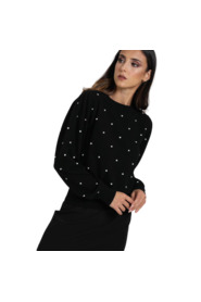 LONG SWEATER WITH POLKA DOTS