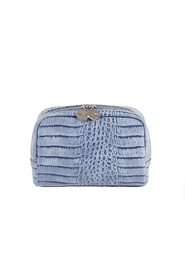 Blå Lulus Beauty Cosmetic Bag Croco