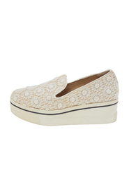 Floral-lace Slip on Sneakers