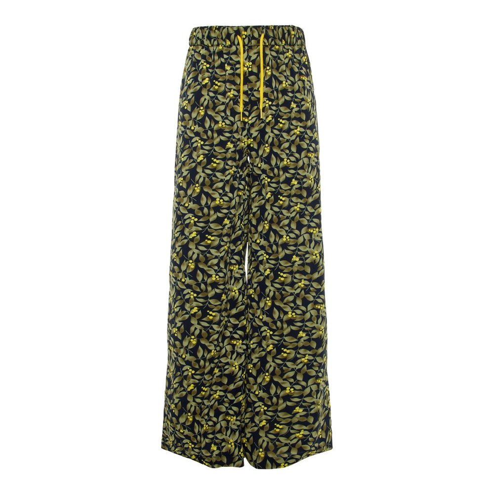 Wide-leg trousers printed