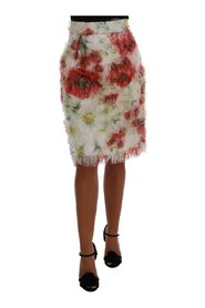 Floral Patterned Pencil Straight Skirt