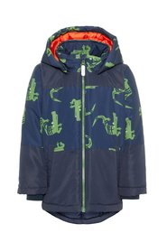 Winter jacket crocodile printed