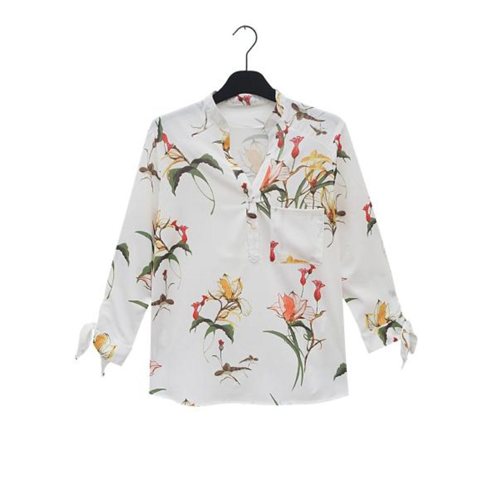 CELINE White Flower Print Shirt