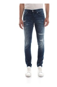 DONDUP RITCHIE UP424 JEANS Men DENIM MEDIUM BLUE