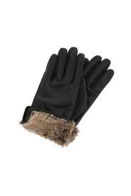 Faux Fur Trim Leathe A L Gloves