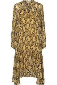 Beige Second Female Snake Midi Dress Drops