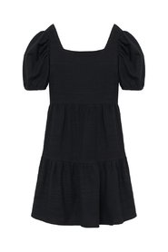 Bow Puff Sleeves Dress