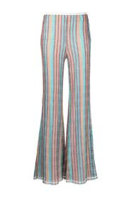 Flared Pants with Stripes motif