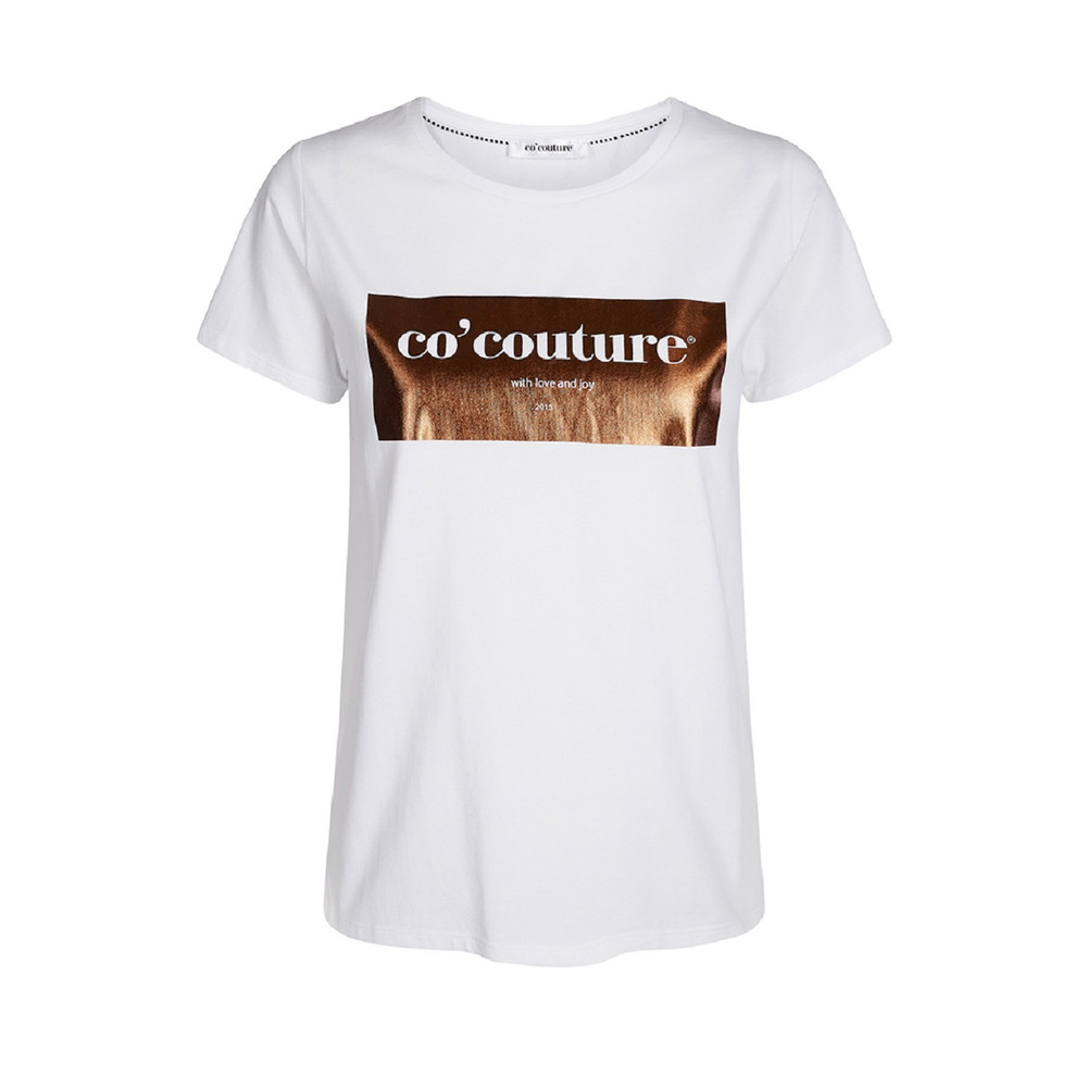 Laurel Foil hvid m/bronze tee - Co'couture