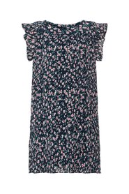 Dress pleated floral print