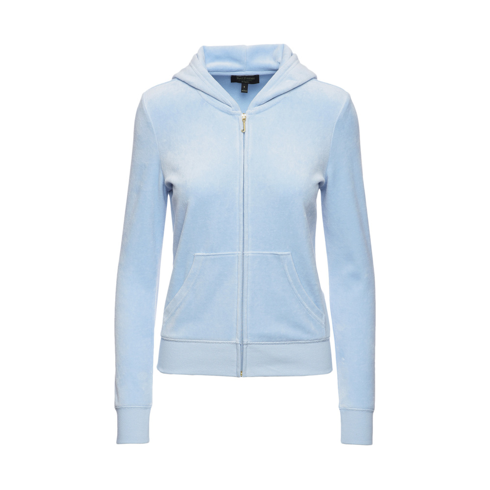 Juicy Couture Velour Starburst Cameo RB Hoodie tröja Ljusblå
