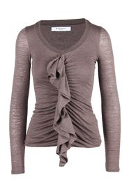 Military Front Frill Top