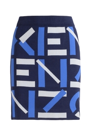 Skirt with all over logo