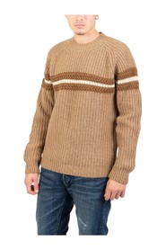 Camel sweater with horizontal band