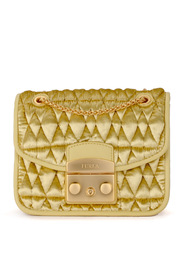 Metropolis Cometa quilted velvet shoulder bag