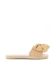 Miami lurex slipper with bow