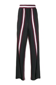 Constrasting band trousers