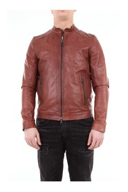 BOSTONMIKI Leather Jacket Mahogany