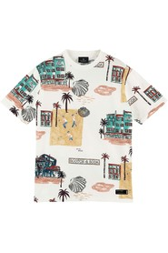 All-over printed crewneck t-shirt