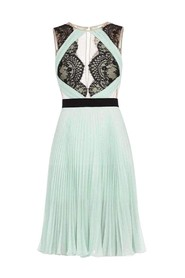 Arianne Scalloped Edge Pleated Dress