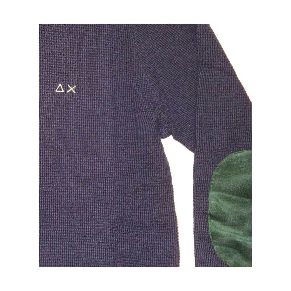 Sun 68 Blue Sweater with patches Sun 68