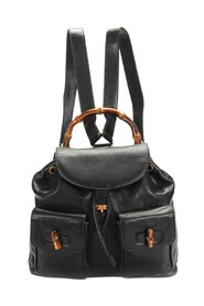Pre-owned Leather Bamboo Backpack