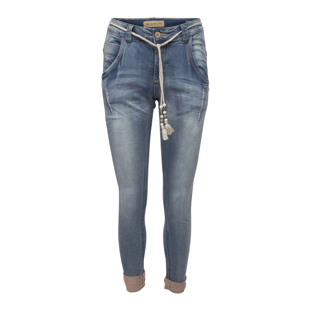 Bianco Boyfriend Blue Denim Jeans