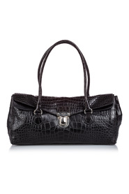 Crocodile Embossed Easy Shoulder Bag