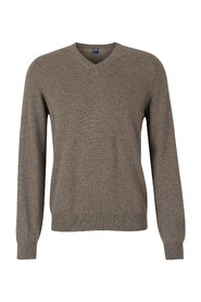 Cashmere jumper with  V  neck