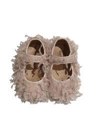 BALLERINA WITH FRINGES BUCKLE CLOSURE