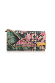 Haymarket Check Peony Rose Henley Wallet On Strap