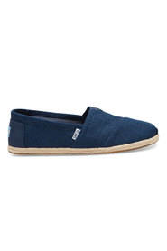 Blå Toms Classic - Linen Rope Mokasin/Loafers