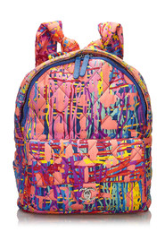 Quilted Canvas Foulard Backpack