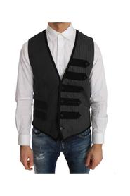 Wool Patterned Slim Vest